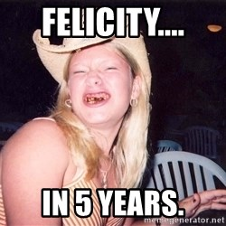 Reagan Fangirl - FELICITY.... IN 5 YEARS.
