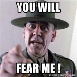 Angry Drill Sergeant - you will fear me !