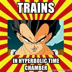 Dragon Ball Z - Trains IN HYPERBOLIC TIME CHAMBER