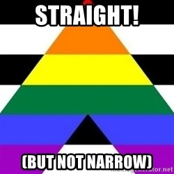 Bad Straight Ally - straight! (but not narrow)