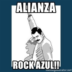 Freddy Mercury - ALIANZA ROCK AZUL!!