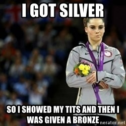 unimpressed McKayla Maroney 2 - i got silver so i showed my tits and then i was given a bronze