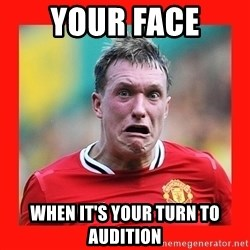 Phil Jones Scared Face - Your face when it's your turn to audition
