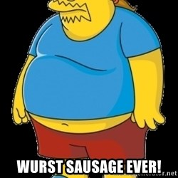 comic book guy - WURST Sausage Ever!