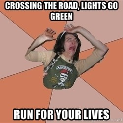 Scared Bekett - CROSSING THE ROAD, LIGHTS GO GREEN RUN FOR YOUR LIVES
