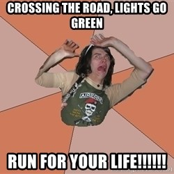 Scared Bekett - CROSSING THE ROAD, LIGHTS GO GREEN RUN FOR YOUR LIFE!!!!!!