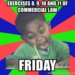 Exam Kid - exercises 8, 9, 10 and 11 of commercial law friday