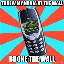 NOKIA 3310CHUCK2 - THREW MY NOKIA AT THE WALL BROKE THE WALL