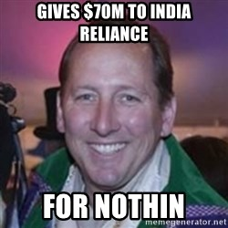 Pirate Textor - GIVEs $70M To India Reliance FOR NOTHIN