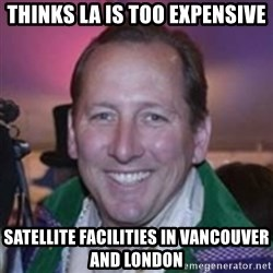 Pirate Textor - thinks la is too expensive satellite facilities in vancouver and london