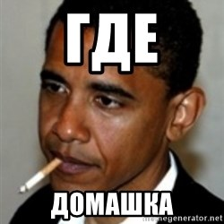 No Bullshit Obama - Где домашка