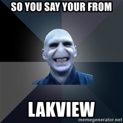 crazy villain - SO YOU SAY YOUR FROM LAKVIEW