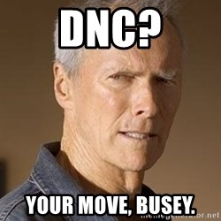 Clint Eastwood - DNC? YOUR MOVE, BUSEY.