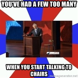 Invisible Obama - You've had a few too many when you start talking to chairs