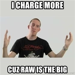 Indie Filmmaker - I charge more cuz raw is the big