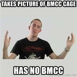 Indie Filmmaker - takes picture of bmcc cage has no bmcc