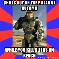 Halo Logic - Chills out on the pillar of autumn While you kill aliens on reach