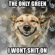 Original Stoner Dog - THE ONLY GREEN I WONT SHIT ON