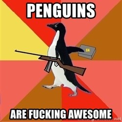 Socially Fed Up Penguin - PENGUINS ARE FUCKING AWESOME