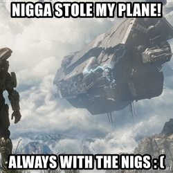 Halo 4 - Nigga stole my plane! Always with the nigs : (