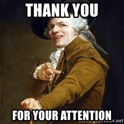 Joseph Ducreaux - Thank you for your attention