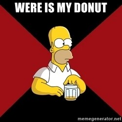 Homer Jay Simpson - WERE IS MY DONUT