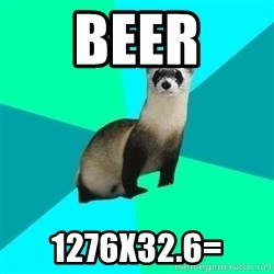Obvious Question Ferret - beer 1276x32.6=