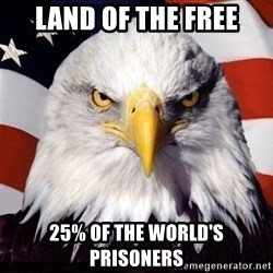 American Pride Eagle - land of the free 25% of the world's prisoners