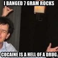 Drunk Charlie Sheen - I banged 7 gram rocks cocaine is a hell of a drug