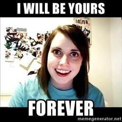Creepy Girl Face - i will be yours forever
