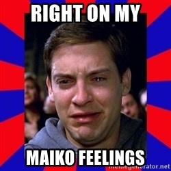 Sad Tobey Maguire - right on my maiko feelings