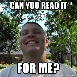 Jamestroll - can you read it  for me?