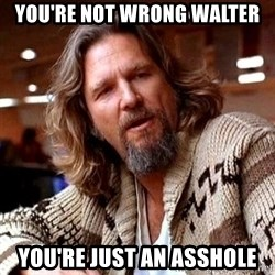 Big Lebowski - you're not wrong walter you're just an asshole