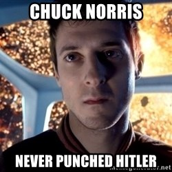 Rory Williams - Chuck norris never punched hitler