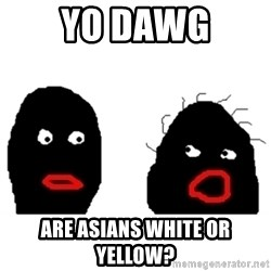 Nigger Rumors - yo dawg are asians white or yellow?