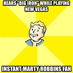 """Fallout 3 - Hears """"Big iron"""" while playing new vegas instant marty robbins fan"""