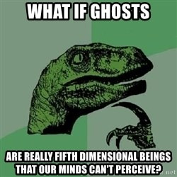 Philosoraptor - What if ghosts are really fifth dimensional beings that our minds can't perceive?