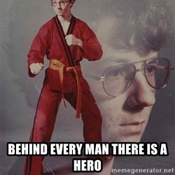 PTSD Karate Kyle - behind every man there is a hero