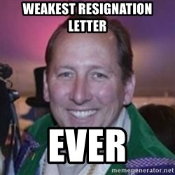 Pirate Textor - weakest resignation letter Ever