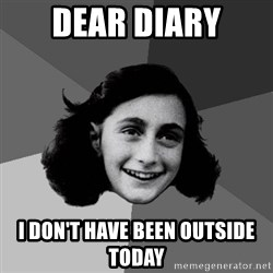 Anne Frank Lol - Dear Diary I don't Have been outside today
