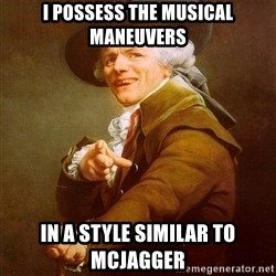 Joseph Ducreux - i possess the musical maneuvers in a style similar to mcjagger