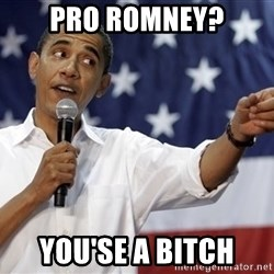 Obama You Mad - pro romney? you'se a bitch