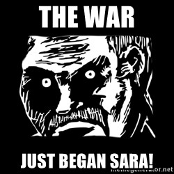 Dark stare - The war  just began sara!