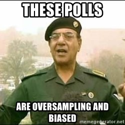 Iraqi Information Minister - these polls are oversampling and biased