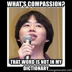 masashi kishimoto - what's compassion? that word is not in my dictionary