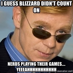 Horatio - I guess blizzard didn't count on nerds playing their games.... yeeeahhhhhhhhhhh
