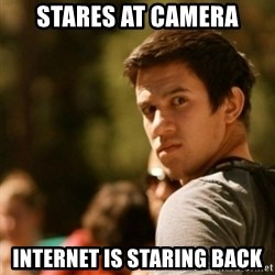Disturbed David - Stares at camera Internet is staring back