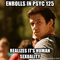 Disturbed David - Enrolls in Psyc 125 realizes it's human sexuality
