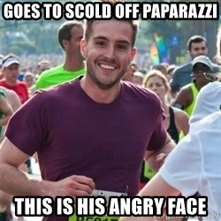 Incredibly photogenic guy - Goes to scold off paparazzi this is his angry face