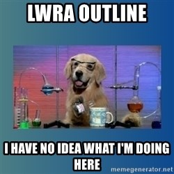 Chemistry Dog - lWRA outline  i have no idea what i'm doing heRe